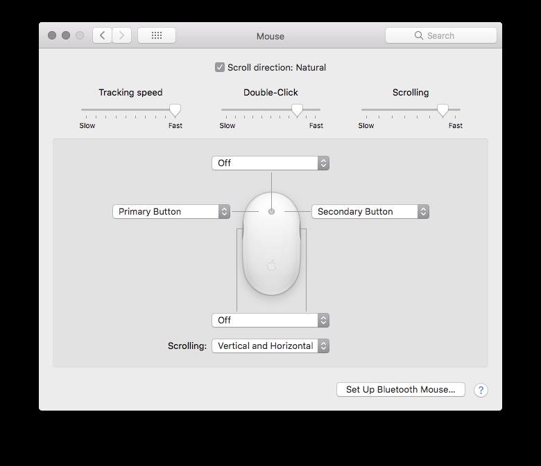 Mouse Preferences